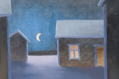 Puolikuun piha - Halfmoon yard|2011, myyty, sold