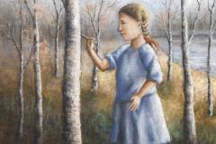 Tyttö koivikossa |2009