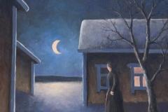 Yksinäinen yössä- Lonely night | 2011, myyty, sold